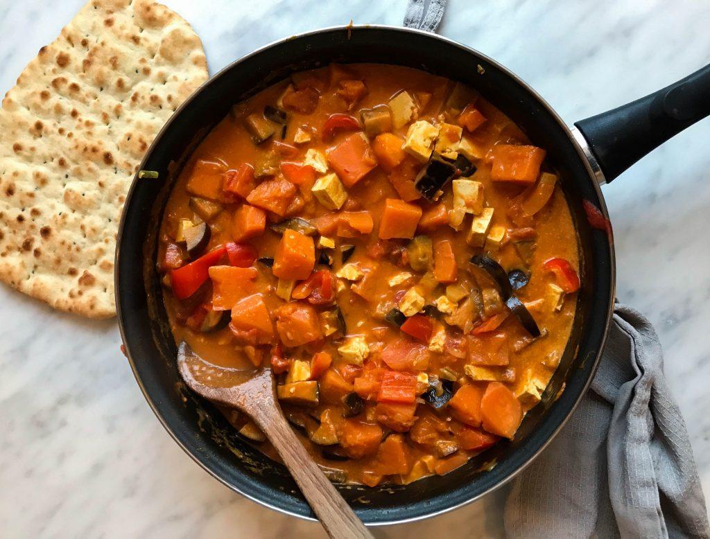 pompoen-kokos curry