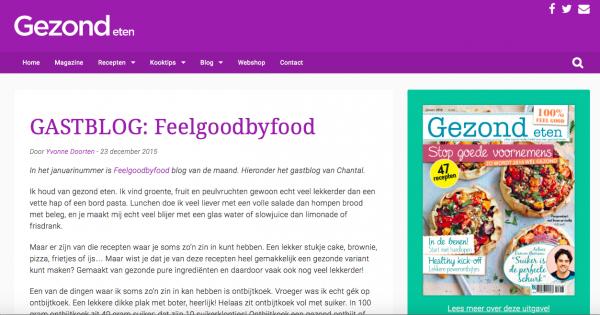 gastblog Gezond Eten