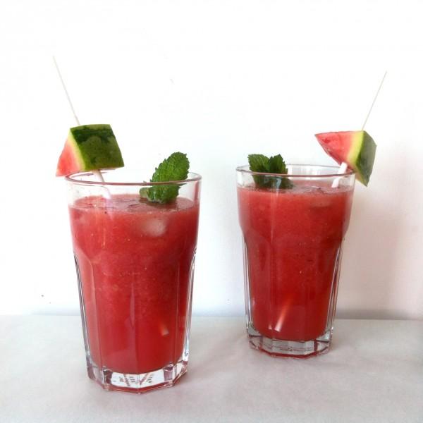 watermeloen-aardbei cocktail