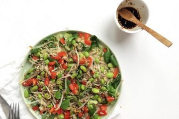 quinoasalade met sojasaus