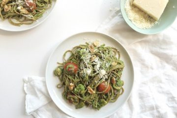 pasta spinazie-noten pesto