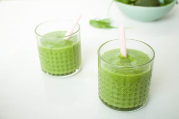 groene smoothie avocado sinaasappel