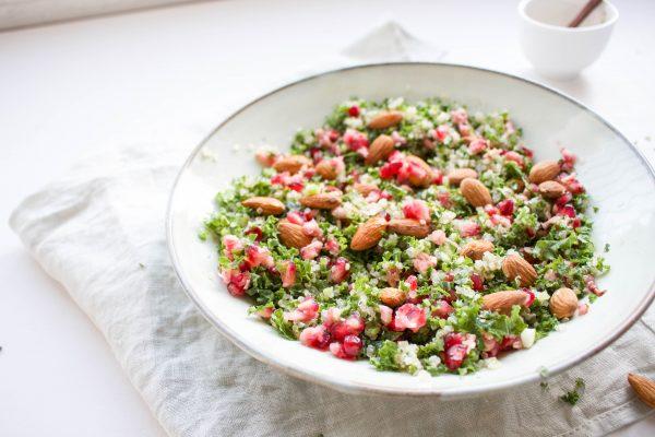boerenkool salade met granaatappel