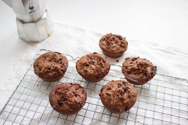 chocolade-espresso muffins