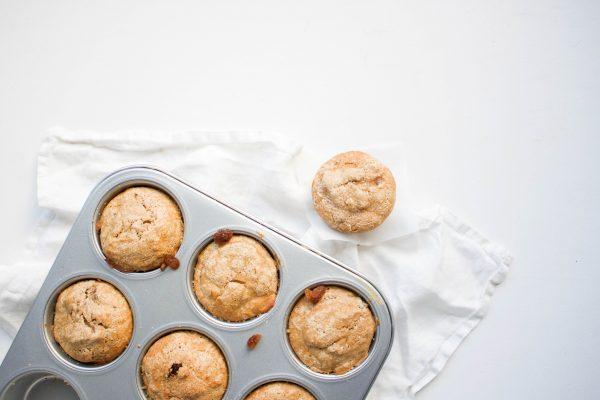 spelt-bananenmuffins