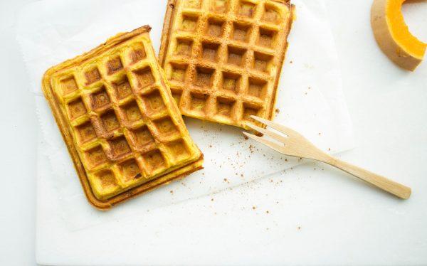 Ontbijten met wafels
