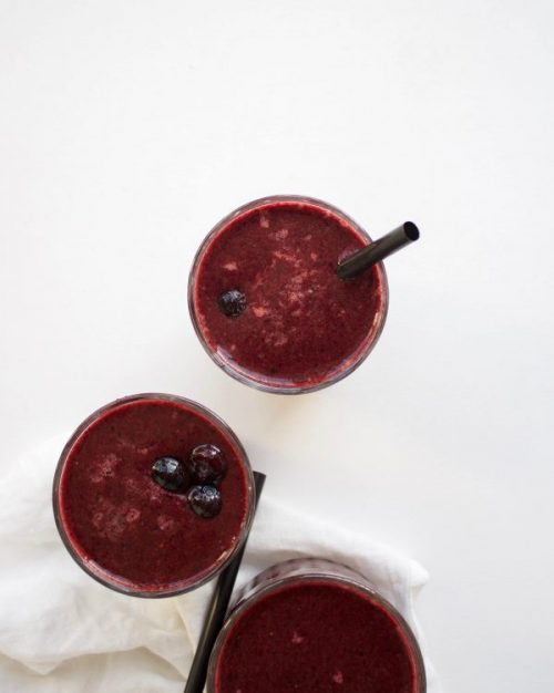 Paarse smoothie