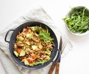 scrambled egg tempeh