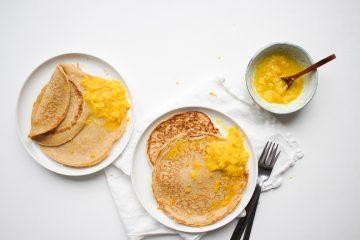 spelt pannenkoekjes sinaasappel