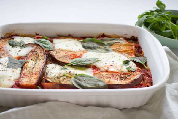 pasta-aubergine schotel