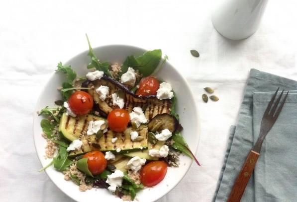 Salade gegrilde aubergine