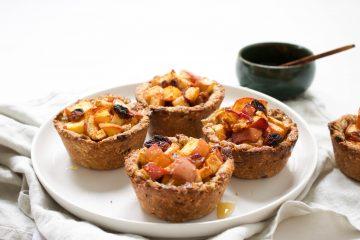 Mini appel-perziktaartjes