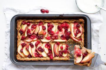 appel-cranberry taartje