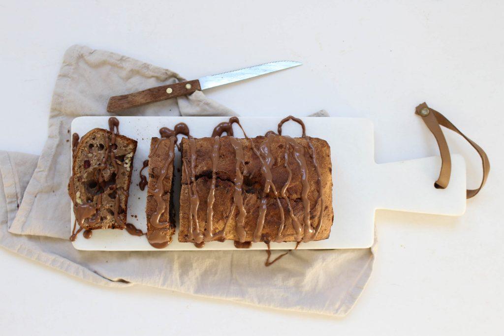 bananenbrood pecannoten chocolade