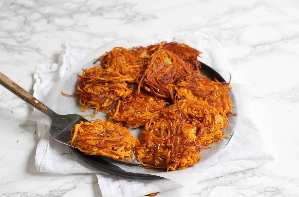 rösti van zoete aardappel feelgoodbyfood