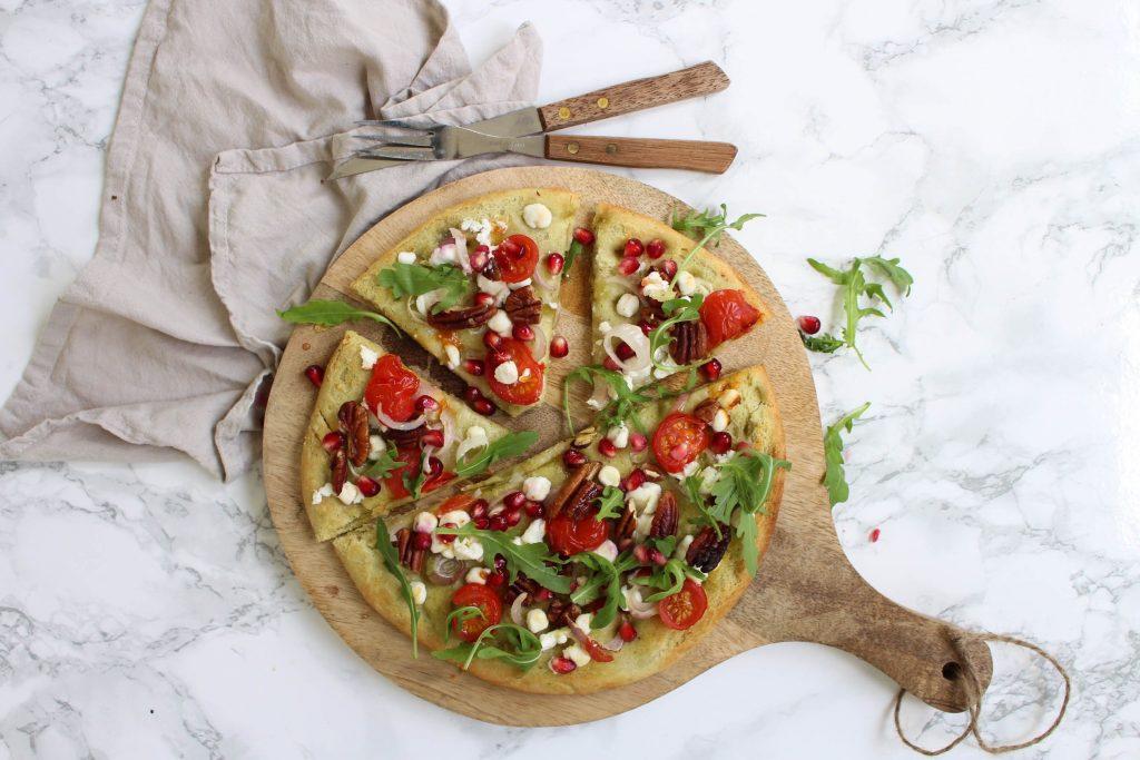 pizza bianca met geitenkaas