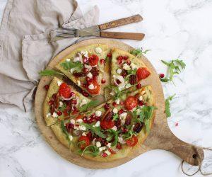 pizza bianca geitenkaas