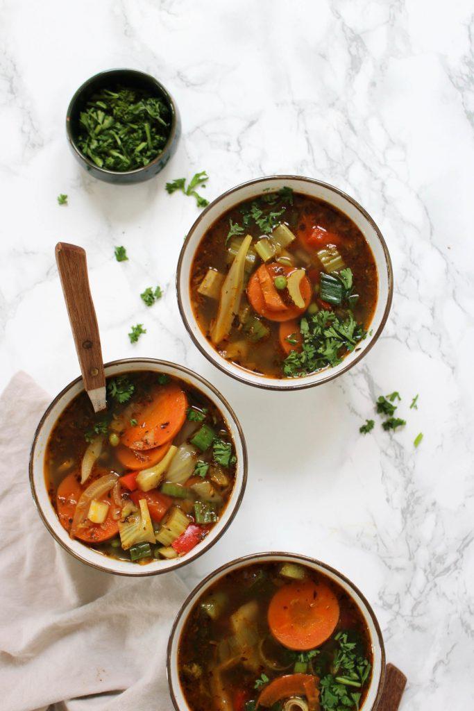 Lente-groentesoep