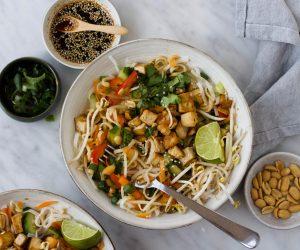 Thaise noedelsalade tofu
