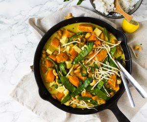 Thaise massaman curry zoete aardappel