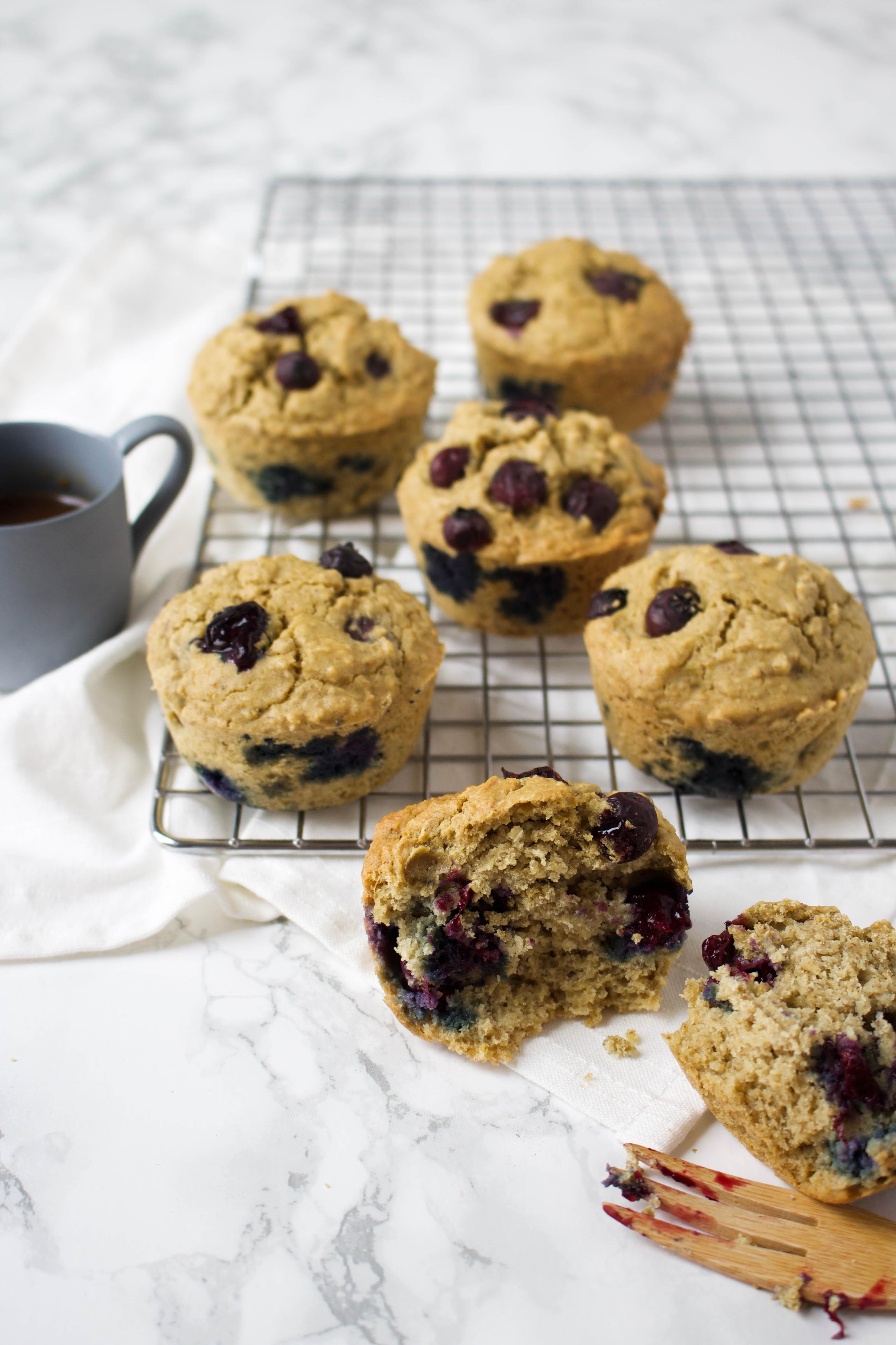 blueberry-yoghurt ontbijtmuffins