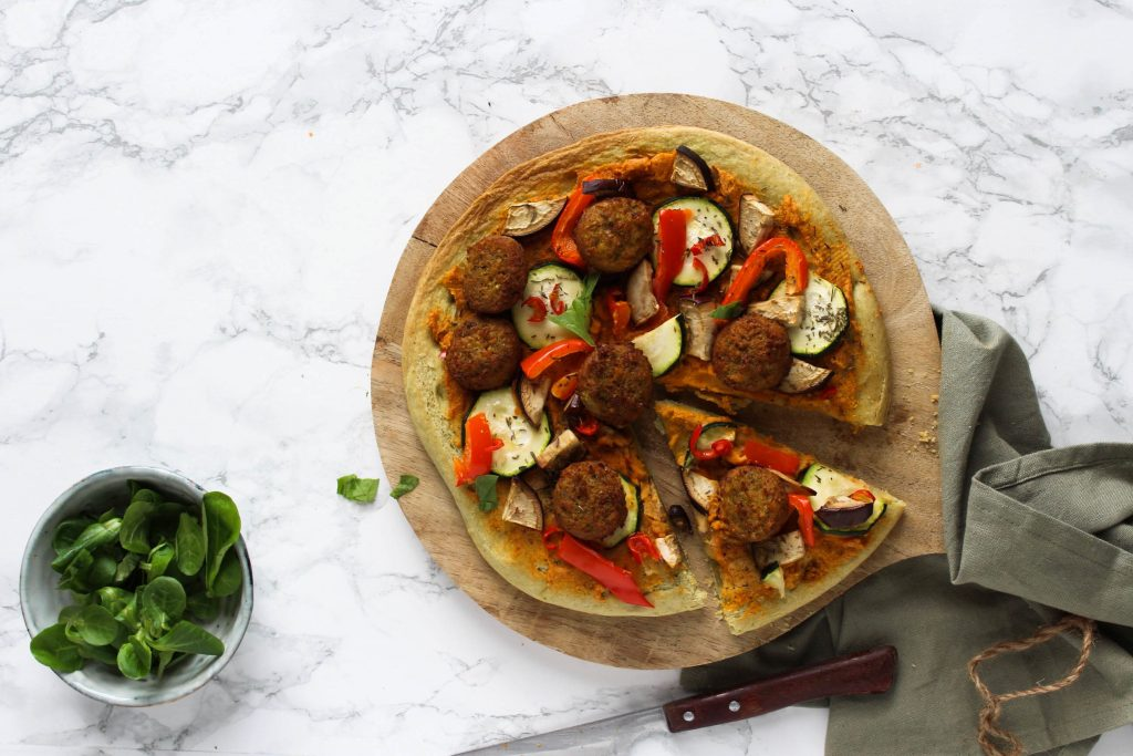 Pizza falafel