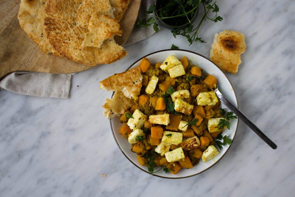 linzen-pompoen curry met paneer