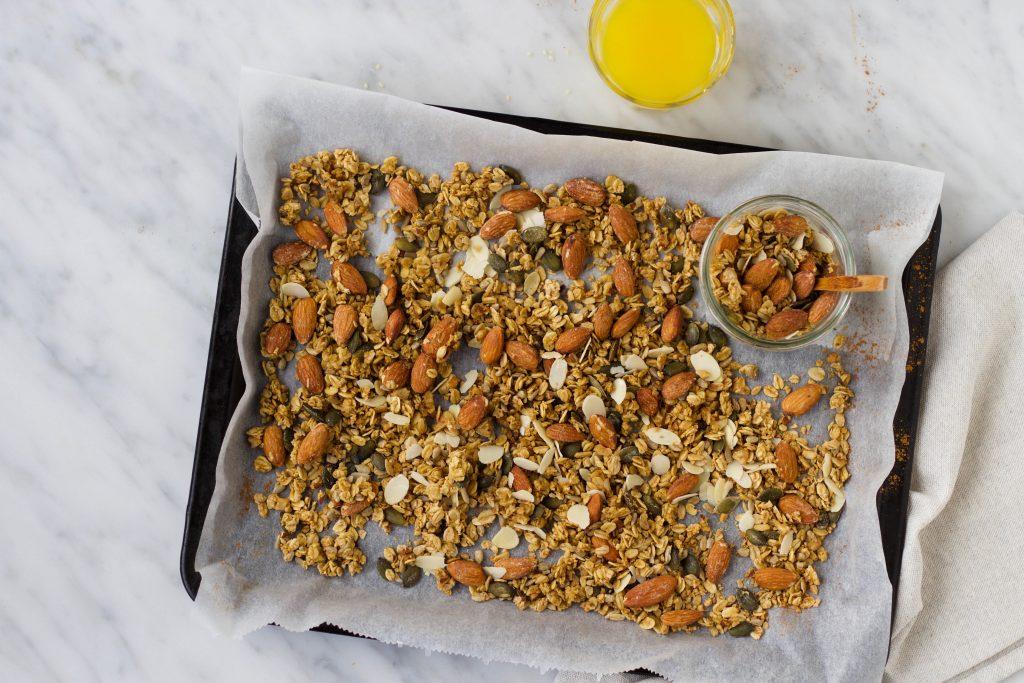 Speculaas granola met sinaasappel