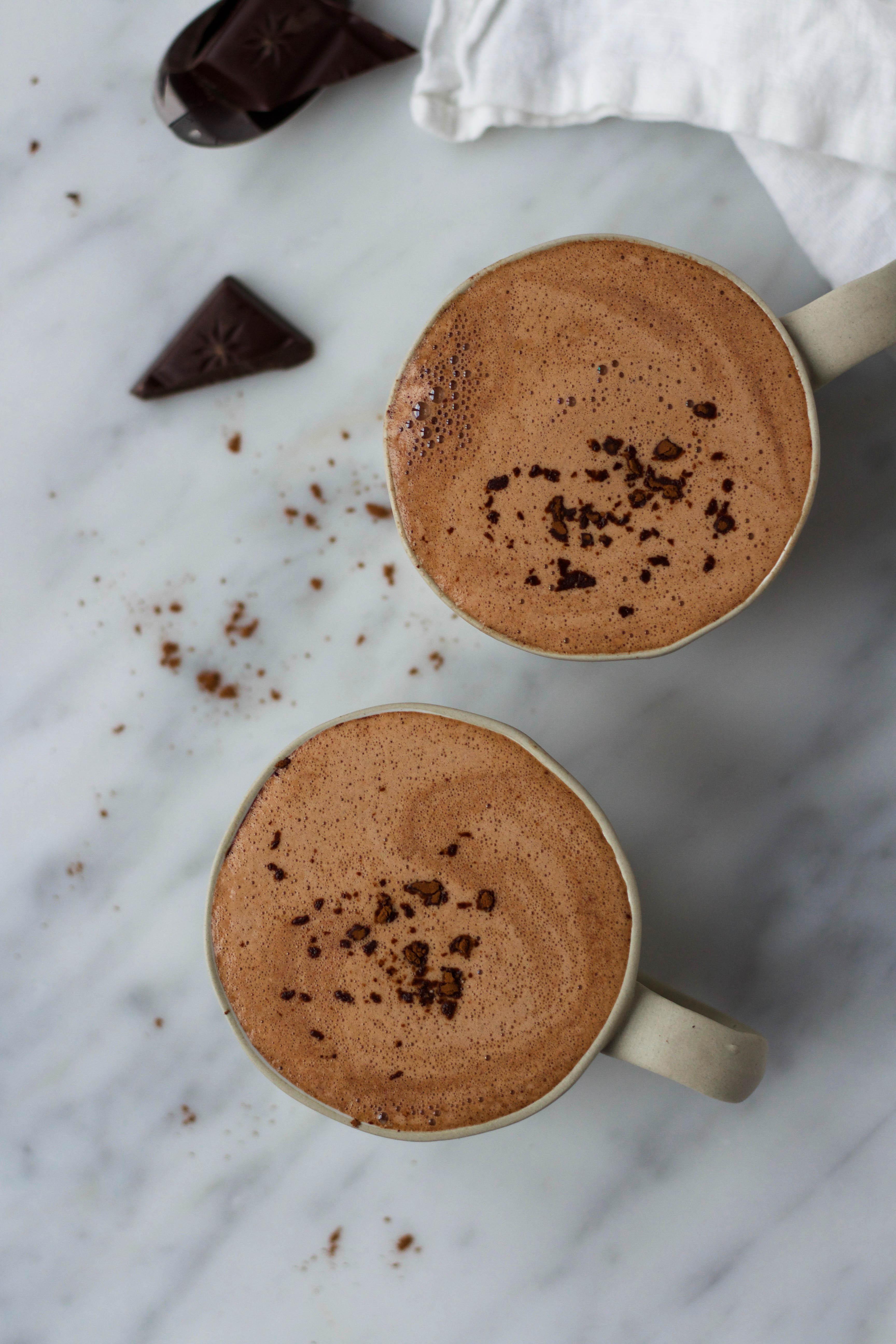 Chocolademelk van pure chocolade