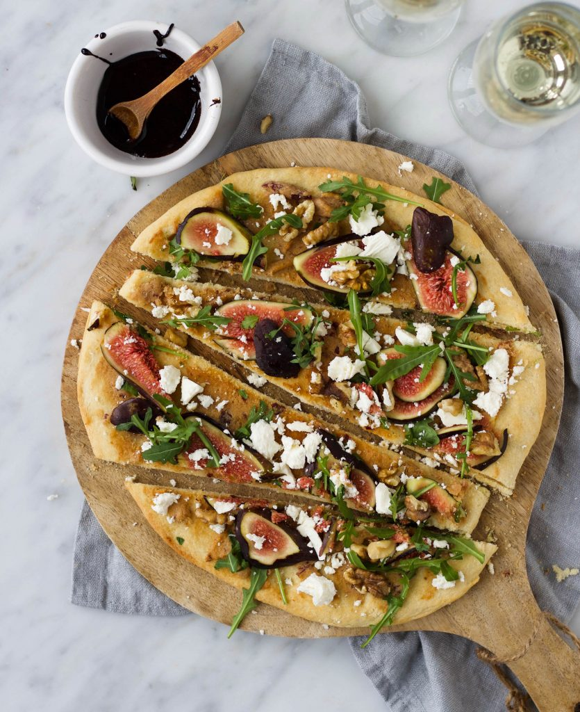 Pizza vijgen feta walnoten