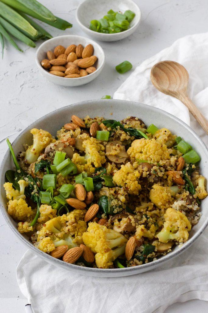 quinoa salade bloemkool