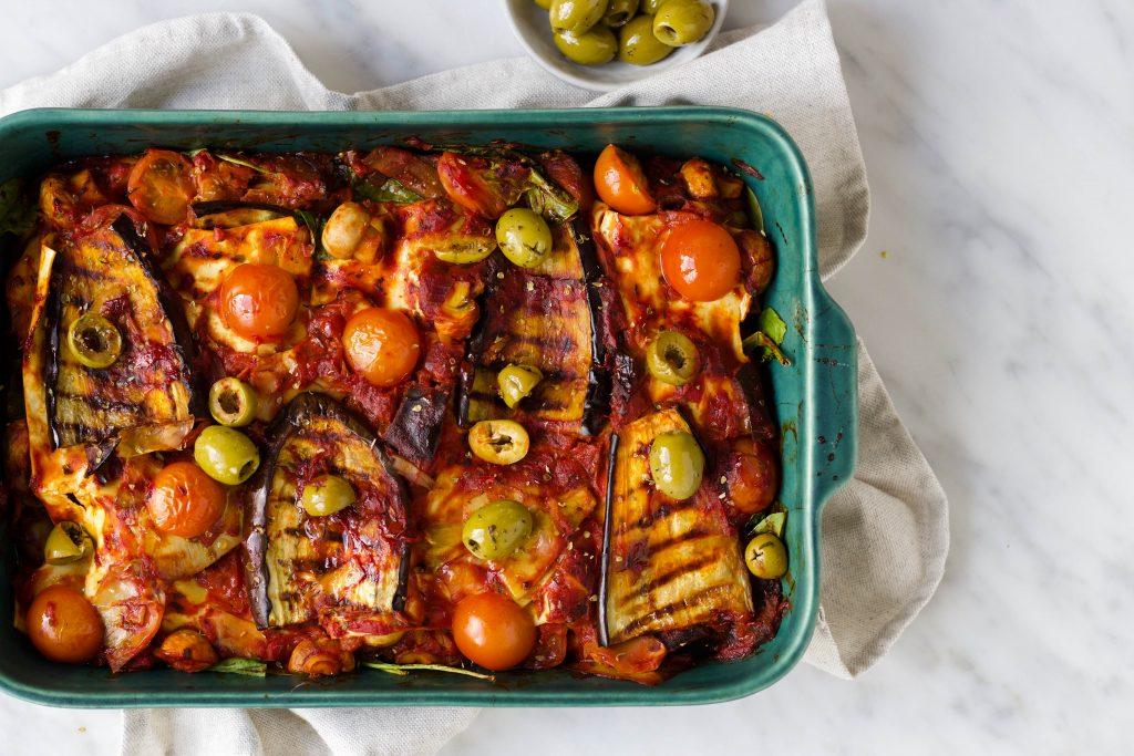 lasagne gegrilde aubergine