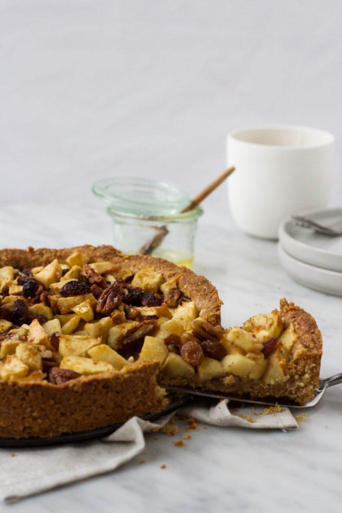 appeltaart rozijnen kaneel feelgoodbyfood