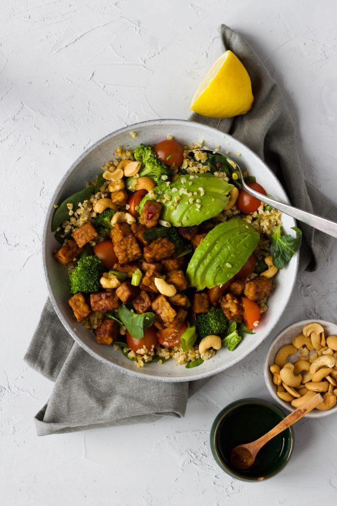 salade bulgur tempeh