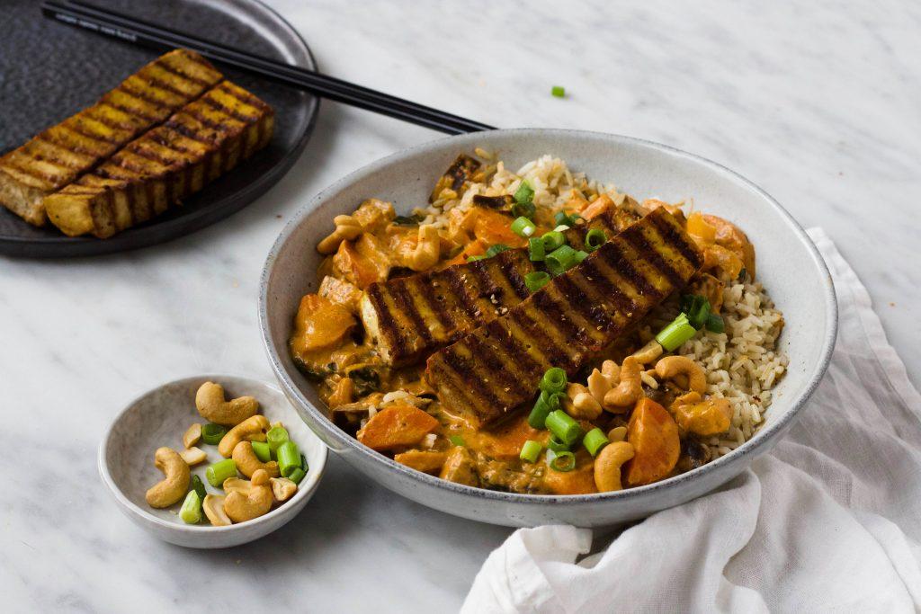 curry tofu steak