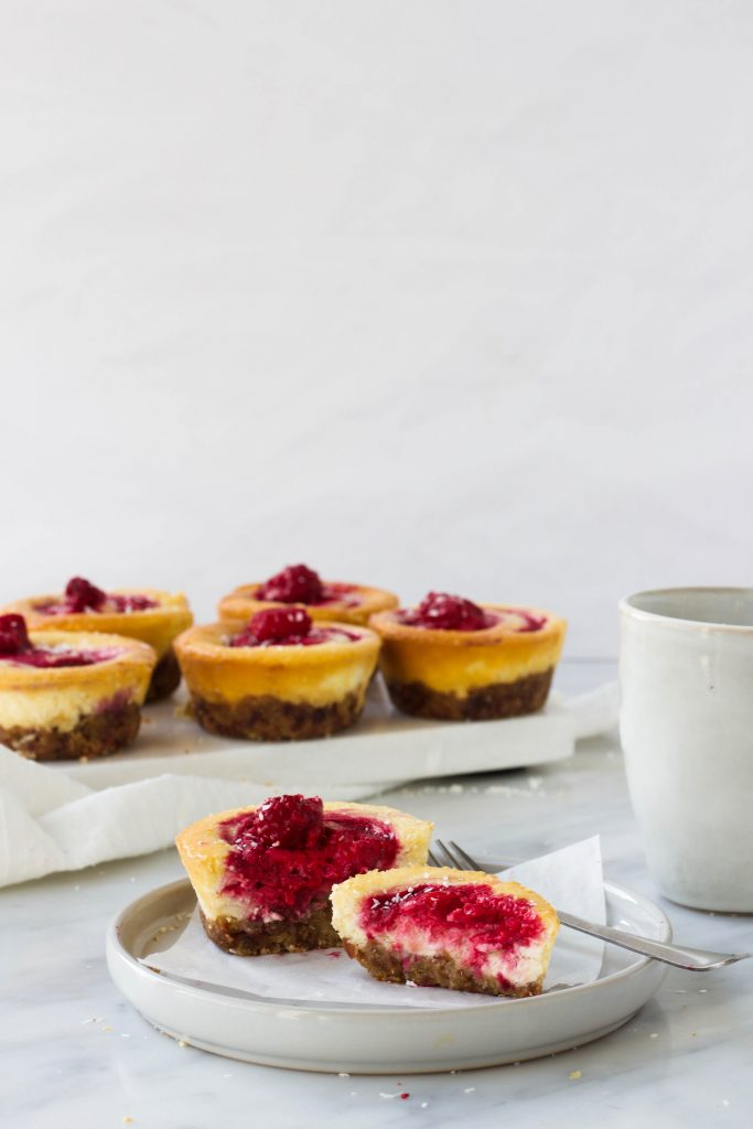 mini citroen-frambozen cheesecakes