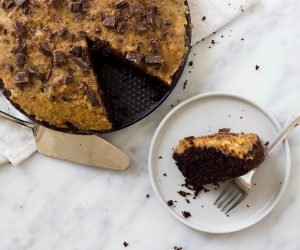 chocoladetaart met salted caramel