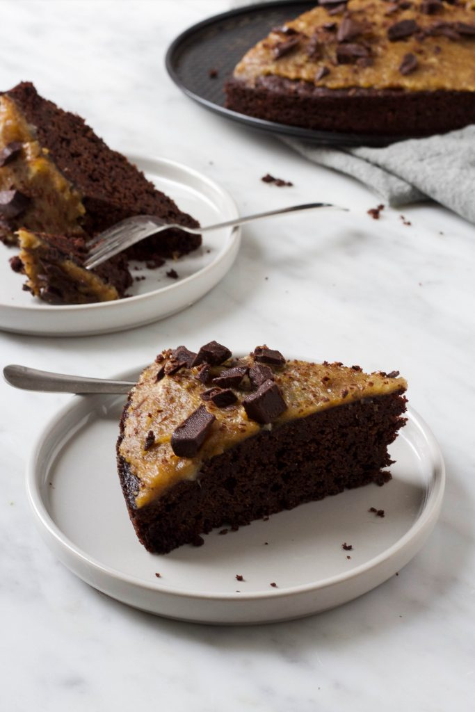 chocoladetaart met salted caramel feelgoodbyfood