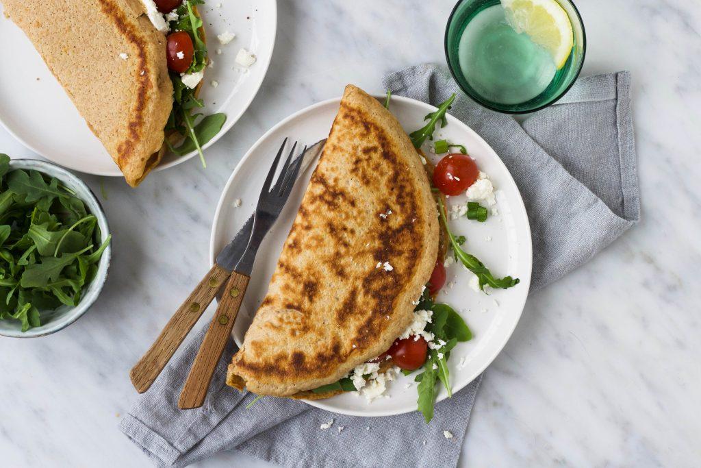 Hartige spelt pannenkoek