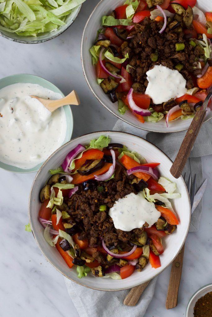 Griekse gyros salade