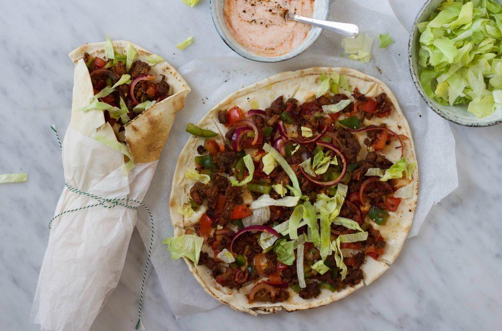 Turkse pizza gezond vegan
