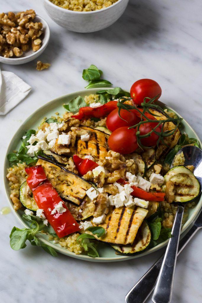 gegrilde groentesalade