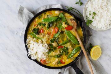 Thaise groene groentecurry