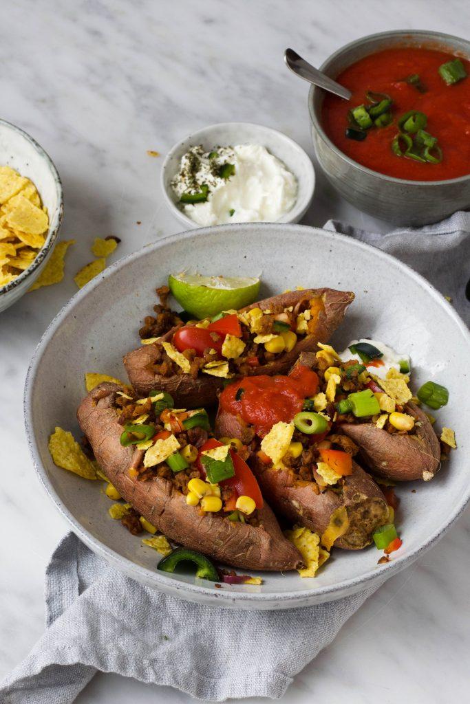 mexicaanse zoete aardappel vegetarisch