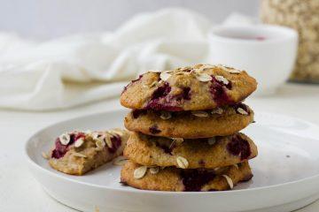yoghurt-haver koekjes met frambozen feelgoodbyfood