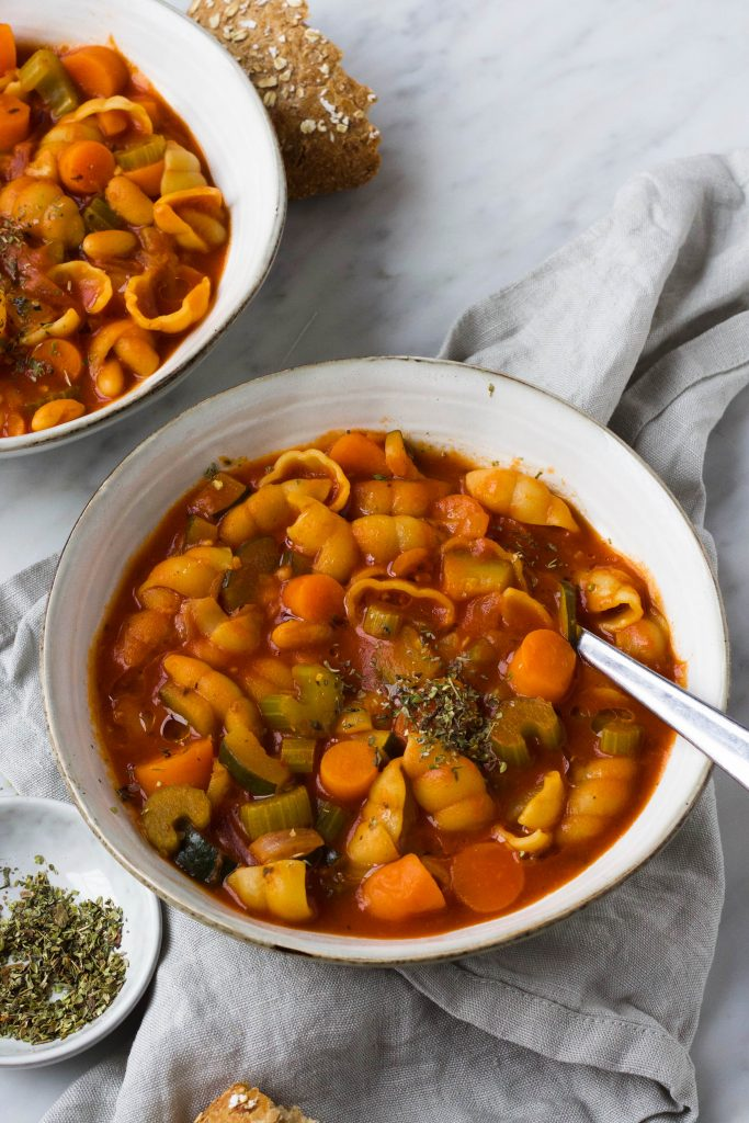 Minestrone soep Italiaanse maaltijdsoep