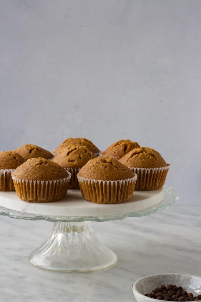 Gingerbread muffins sinaasappelfrosting