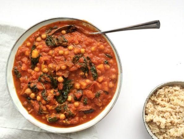 zoete aardappel-tomaten stew