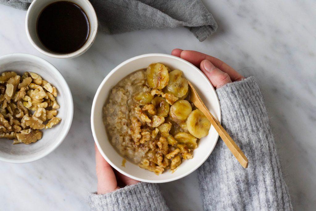 Banaan-vanille porridge