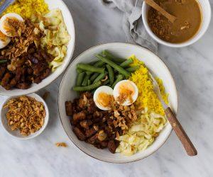Indonesische tempeh ketjap bowl